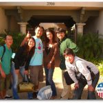 Students at Campus Entrance
